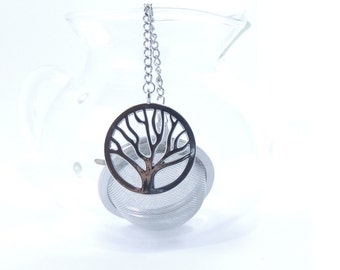 Tea Infuser with Tree Charm Mesh Ball Tea Strainer