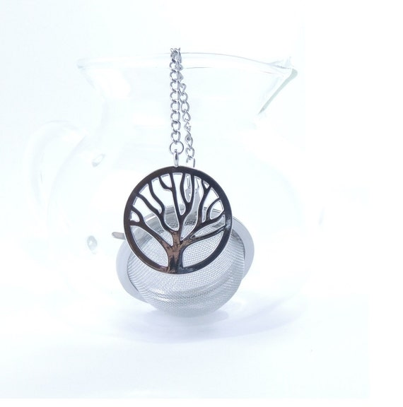 s day gift tea infuser with tree charm mesh by 9thfloor