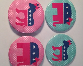 Political Pocket Mirrors, politics, republican, democrat