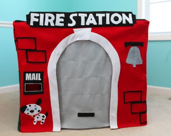 Custom Fire Station Playhouse - Felt Card Table Play House