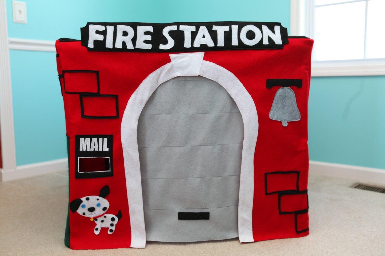 Custom Fire Station Playhouse Felt Card Table Play House