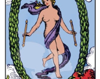 The World Tarot Card - Instant Download PDF file