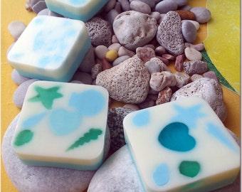 Summer Love Glycerine soap  Καλοκαιρινη αγαπη σαπουνακι