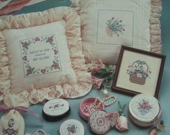 Tender Treasures by Marilyn Clark - Cross Stitch from Leisure Arts Leaflet 370 - 22 Designs and 2 Alphabets - Color Graphs Vintage 1985
