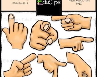 Pointing Fingers Clip Art Bundle
