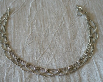 Indian anklet - silver colour
