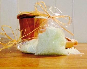 Handmade Dead Sea Bath Salts Hand Tied with Raffia