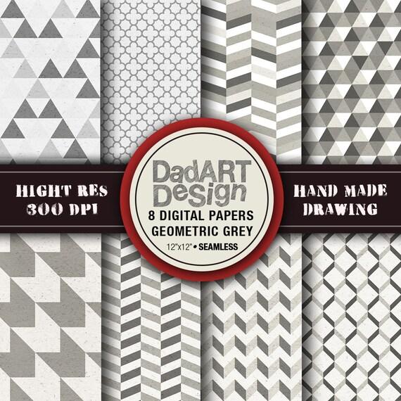 Geometric digital paper pattern