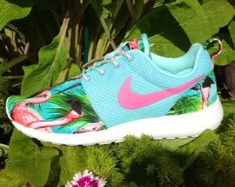 Nike Roshe Run Custom Pink Flamingo With Pink Swoosh