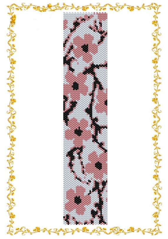 Beading Pattern Bracelet Sakura Even Count By Diushespatterns