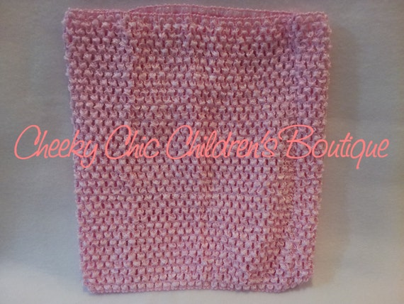10 INCH LIGHT PINK Crochet Tutu Dress Tube Top [CB10LTPK]