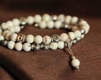 Nursing Bracelet / Breastfeeding Bracelet - New Mom Gift,New Baby Gift,Baby Shower Gift,White Howlite,Mother Gift,Mum Gift Nursing reminder