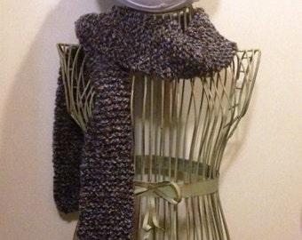 Landscape Knit Scarf and Hat Set
