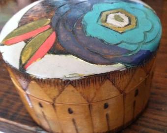 Wooden Powder Box