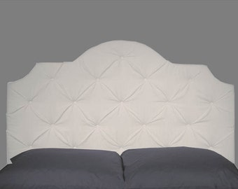Tufted Headboard - Full Size White Headboard with Button Tufting - Twin FULL QUEEN KING Size Available