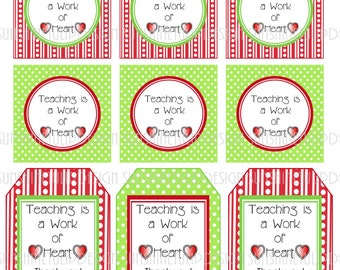 Printable teacher appreciation gift tags welcome back to baked goods teacher appreciation printable gift tags by sunshinetulipdesign negle Gallery