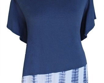 """Women's Tunic Plus Size Top   Plus Size Clothing for Full Figures 1x 2x    One Plus Size - bust up to 54"""""""
