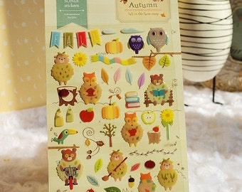 Korean Scrapbook stickers, Autumn-- fall in the farm story