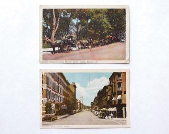 Vintage Postcards Canada Ontario and Montreal, Vintage Prints, Set of 2