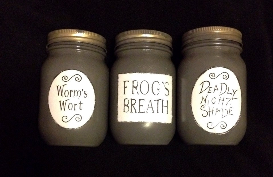 The Nightmare Before Christmas Sally Potion Jars Deadly