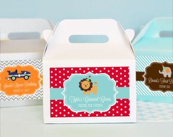 Kids Goody Bags - Kids Goodie Bags Kids Birthday Favors Lion Birthday Party Favor Box Girl Boy 1st Birthday Favor Box (EB2313MDKZ) - 24 pcs