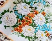 Retro Flower Handkerchief