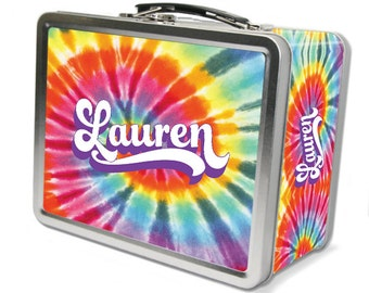 "Tie Dye ""Retro"" Personalized Lunch Box"