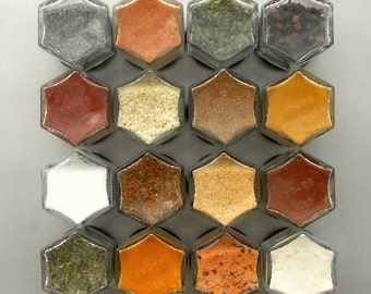 magnetic spice jars organic spices spice rack for mom kitchen gift - Spice Jars