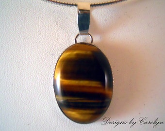 Tiger's Eye Sterling Silver Pendant CSS288P