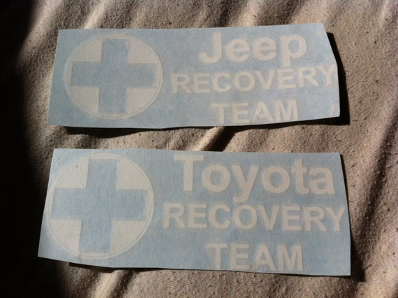 Items Similar To Recovery Team Jeep Toyota Hummer Dodge