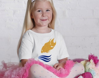Gold fish  Glitter youth and Toddler T shirt -Gold fish  Glitter youth and Toddler graphic