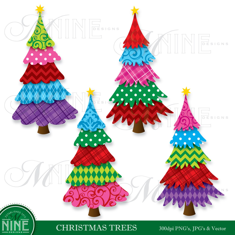 Seuss Christmas Tree Clip Art christmas tree clipart pattern christmas ...