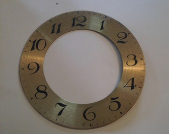 Vintage large brass dial