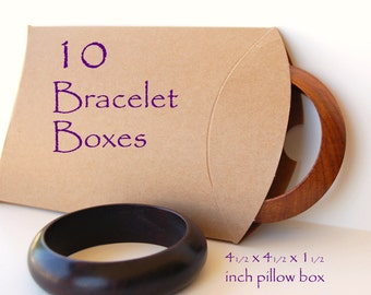 10 Medium Pillow Boxes, Kraft pillow boxes, wedding favor boxes, jewelry boxes, packaging
