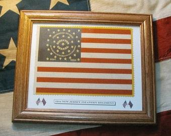 34 Star Flag, American Flag, Civil War Flag....12th New Jersey Vols