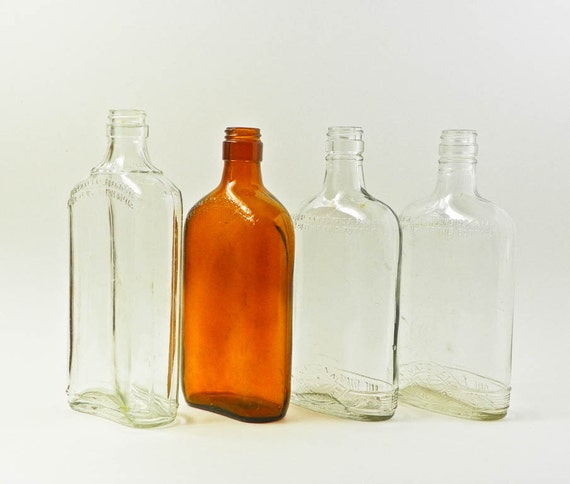 vintage liquor bottles flat pint bottles federal law