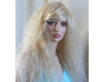 Daenerys Stormborn inspired cosplay wig Blonde long curly wig. -high quality wig - made to order