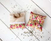 French style Lavender Pillows - Rustic linen - Home decor