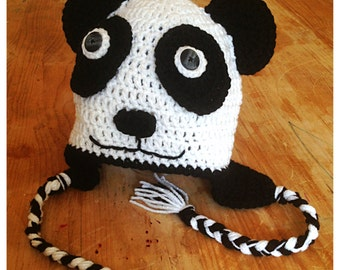 Items similar to Size 3-4 yr old panda hat on Etsy