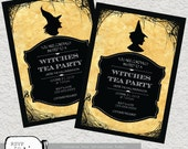 Witches Tea Party-Custom Printable Invitation. Available in 4x6 or 5x7.