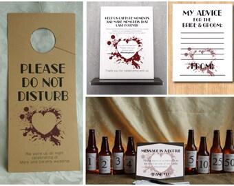 Grunge Heart Wedding Set