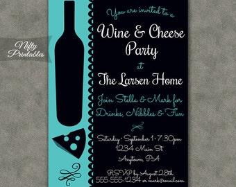 wine party invite  etsy, party invitations