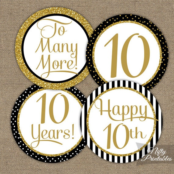 10th anniversary cupcake toppers 10th anniversary party for 10th wedding anniversary decoration ideas