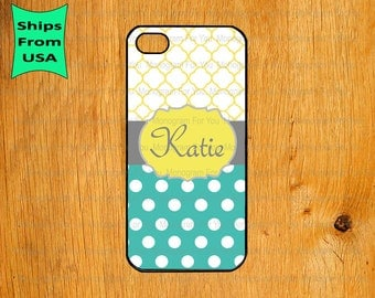 iPhone 6/6s Plus Case, iPhone 6/6s Case, Polka Dots Monogram iPhone 5s Case, iPhone 5c Cover, iPhone 4 4s Cases,iPhone SE Case