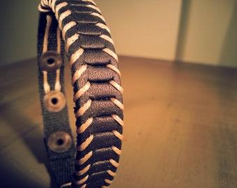 Men's leather bracelet black leather wrap nautical men's bracelet / leather bracelet men's / jewelry bangle leather bracelet men
