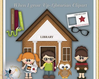 Librarian Clipart, School, Library, When I Grow Up