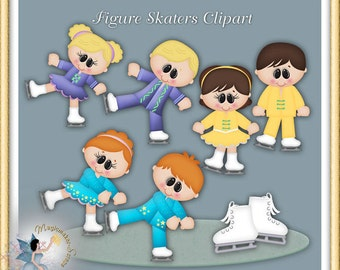 Figure Skaters Clipart