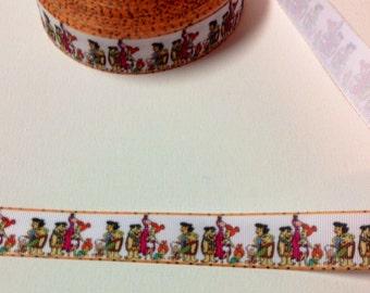 5 yards of Cartoon grosgrain ribbon 1 inch wide