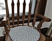 """Hand braided blue chair pad 15"""""""