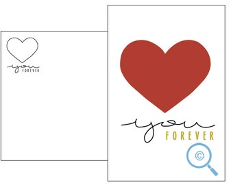 Love u forever postcard card